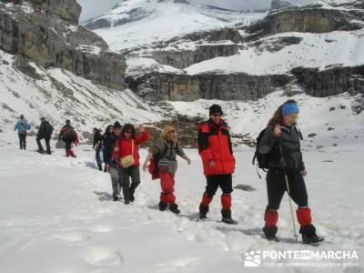 Parque Nacional de Ordesa - Cascadas y nieve; senderismo sierra norte madrid